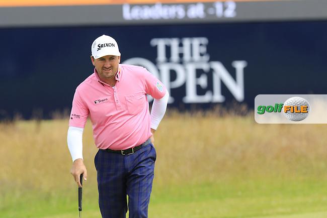 Graeme McDOWELL (NIR) on the 16th green during Monday's Final Round of the 144th Open Championship, St Andrews Old Course, St Andrews, Fife, Scotland. 20/07/2015.<br /> Picture Eoin Clarke, www.golffile.ie