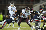Texas A&amp;M running back Ben Malena (1) is tackled by Ole Miss linebacker Denzel Nkemdiche (4) in Oxford, Miss. on Saturday, October 6, 2012. Texas A&amp;M won 30-27...