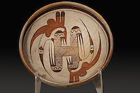 Clay bowl with painted decoration, early 20th century, by Nampeyo, 1859-1942, a Hopi potter, from the collection of the Denver Art Museum, Denver, Colorado, USA. Nampeyo, or Num-pa-yu, was a Hopi-Tewa potter who lived on the Hopi Reservation in Arizona. Picture by Manuel Cohen