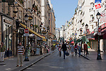 Rue Montorgueil in Paris France in May 2008