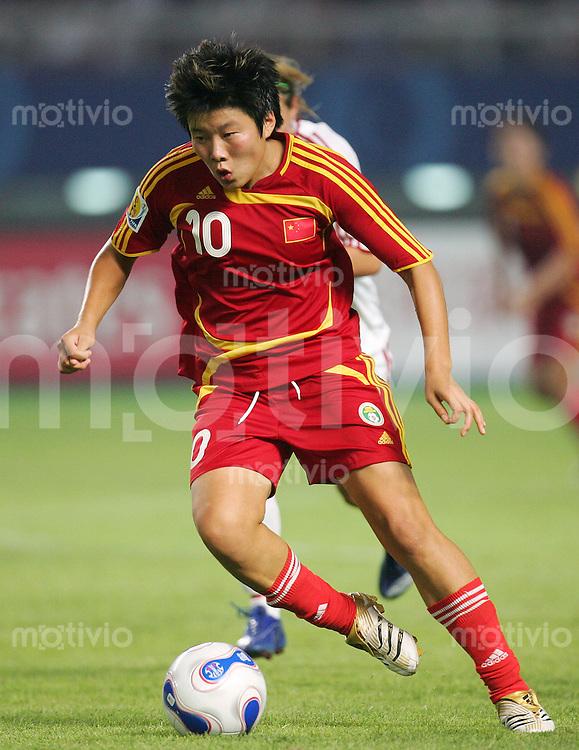Fussball International Frauen WM China 2007  China - Daenemark China PR - Denmark MA Xiaoxu (CHN).