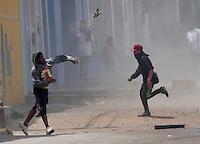 Disturbios en Soacha contra Transmilenio, 12-02-2016