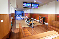 Bowling Alley With Multiple TVs