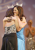 12 July, 2008:   2007 Miss Washington and second runner up in the Miss America pageant Elyse Umemoto congratulates Miss Tahoma Janet Harding for winning the 2008 Miss Washington pageant at the Pantages Theater in Tacoma , Washington.