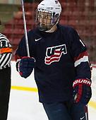 Grant Mismash - The Harvard University Crimson defeated the US National Team Development Program's Under-18 team 5-2 on Saturday, October 8, 2016, at the Bright-Landry Hockey Center in Boston, Massachusetts.