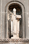 Statue of Saint Blaise in Dubrovnik, Croatia.