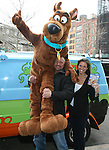 Scooby Doo, WWE Superstar Triple H, and WWE Chief Brand Officer Stephanie McMahon Attends World Premiere of Scooby Doo! WrestleMania Mystery Held at Tribeca Cinemas, NY