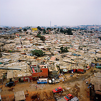 A slum, known in Angola as a musseque, in Luanda..