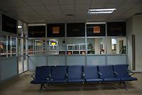 Departure lounge, Orange advertising.