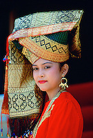 Woman in headdress, Java, Indonesia RESERVED USE - NOT FOR DOWNLOAD -  FOR USE CONTACT TIM GRAHAM