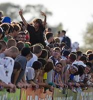 US fans celebrate. 2007 Nike Friendlies, which are taking place from Dec. 6-9 at IMG Academies in Bradenton, Fla.
