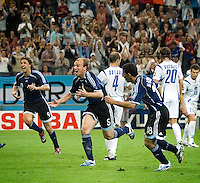 Esteban Cambiasso (5) of Argentina celebrates his goal. Argentina defeated Serbia and Montenegro 6-0 in their FIFA World Cup Group C match at FIFA World Cup Stadium, Gelsenkirchen, Germany, June 16, 2006.