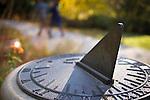 #pictureDukeFall<br /> Sundial detail<br /> Photos in Sarah P. Duke Gardens, November 14th 2014 as part of the Fall Gardens Photowalk