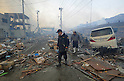 Residents of Gesen Numa, Miyagi Prefecture Observe Devastation at 8.09am on March 12th from the earthquake and tsunami that struck the day before
