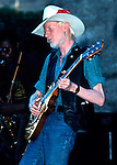 Johnny Winter, Sept 1981, Paul Masson Winery, Saratoga, CA. American blues guitarist, singer and producer. Winter is known for his southern blues and rock and roll style, as well as his physical appearance. Both he and his brother Edgar were born with albinism.