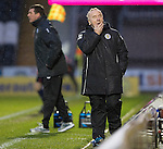 St Mirren v St Johnstone...06.12.14   SPFL<br /> St Mirren boss Tommy Craig turns away from the game<br /> Picture by Graeme Hart.<br /> Copyright Perthshire Picture Agency<br /> Tel: 01738 623350  Mobile: 07990 594431
