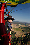 A view during an Up & Away hot air balloon ride over Middletown, California on Saturday July 14th 2012. (Photo By Brian Garfinkel)