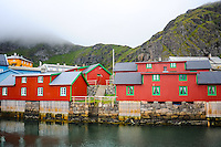 Norway, Lofoten. Stamsund is a village in Vestvågøy municipality, and is an important fishing village. The fishermens seasonal homes, or Rorbu, is today rented out to tourists.