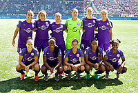 Portland, OR - Saturday April 15, 2017:  Orlando Pride  starting eleven during a regular season National Women's Soccer League (NWSL) match between the Portland Thorns FC and the Orlando Pride at Providence Park.
