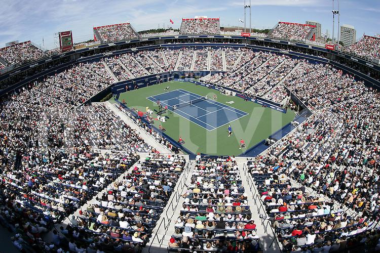 Tennis Masters Series Toronto Rogers Cup 2006 Der Rogers Cup Center Court voller Zuschauer waehrend des Finales zwischen Roger FEDERER (SUI) und Richard GASQUET (FRA).