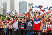 CHICAGO, Illinois - Thursday June 26, 2014: Fans gather at Grant Park to watch the World Cup match between US Men's National team and Germany.
