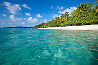 Honeymoon Beach.Virgin Islands National Park, St. John.US Virgin Islands