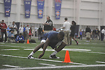 Mississippi football player Allen Walker at Pro Day in the IPF in Oxford, Miss. on Tuesday, March 22, 2011.