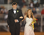 Senior maid Mallory Davis is escorted by Addison Crews at Lafayette High vs. Lewisburg in Homecoming football action in Oxford, Miss. on Friday, September 30, 2011.