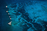 From an aerial perspective the Great Bahamas Bank reef's intriguing patterns are clearly defined