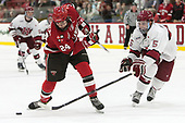 Taggart Corriveau (SLU - 24), Clay Anderson (Harvard - 5) - The Harvard University Crimson defeated the St. Lawrence University Saints 6-3 (EN) to clinch the ECAC playoffs first seed and a share in the regular season championship on senior night, Saturday, February 25, 2017, at Bright-Landry Hockey Center in Boston, Massachusetts.