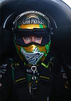 May 1, 2016; Baytown, TX, USA; NHRA top fuel driver Leah Pritchett during the Spring Nationals at Royal Purple Raceway. Mandatory Credit: Mark J. Rebilas-USA TODAY Sports