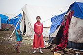 ARBAT, IRAQ: Syrian refugees in a camp on the outskirts of Arbat in the semi autonomous region of Iraqi Kurdistan. ..Refugees from Syria, most of whom are Kurds, have been arriving at camps in Kurdistan trying to escape the continuing conflict.  Arbat is located approximately 20 kilometres away from Sulaimaniyah...Photo by Ali Arkady/Metrography.