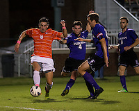 The number 24 ranked Furman Paladins took on the number 20 ranked Clemson Tigers in an inter-conference game at Clemson's Riggs Field.  Furman defeated Clemson 2-1.  Manolo Sanchez (8), Dylan Rowe (4), Michael Gandier (18)