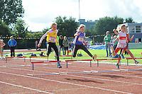ATLETIEK: HEERENVEEN: 19-09-2015, Athletics Champs AV Heerenveen, Melle Ketellapper (#125 | 10 jaar), Marrit de Haan (#32 | 11 jaar), Meike Terpstra (#110 | 9 jaar), ©foto Martin de Jong