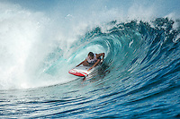 Namotu Island Resort, Fiji. Wednesday April 1 2015) Kyron Rathbone (AUS) - The surf was in the 4' range this morning with  clear skies and moderate ESE Trade winds. It blew out the surf after lunch. The  guests had sessions at Namotu Lefts, Swimming Pools and Cloudbreak. Other activities included snorkelling, hiking on Castaway Island and fishing Photo: joliphotos.com
