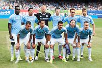BRONX, NY - Sunday July 26, 2015: New York City FC defeats Orlando City SC 5-3 at home at Yankee Stadium during the 2015 MLS regular season.