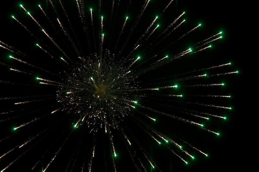 Fireworks explosing during the Lantern Festival in Lanzhou (province of Gansu, China), February 9 2009.