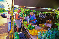 Road-side stands entice drivers to stop and sample some of the islands locally grown fruits and vegetables.