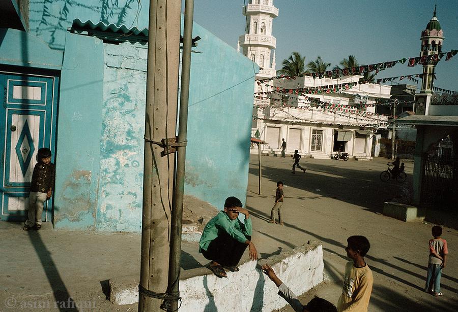 Street scenes in the divided city of Mandvi, Gujarat