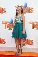 WESTWOOD, CA - OCTOBER 23: Hadley Belle Miller at the premiere Of 20th Century Fox's 'Trolls' at Regency Village Theatre on October 23, 2016 in Westwood, California. Credit: David Edwards/MediaPunch