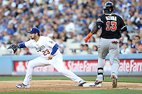 05/13/15 Los Angeles, CA: Los Angeles Dodgers first baseman Adrian Gonzalez #23 during an MLB game played at Dodger Stadium between the Miami Marlins and The Los Angeles Dodgers. The Marlins defeated the Dodgers 5-4