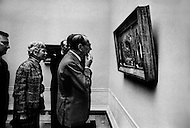 Washington, D.C. February 15th, 1972. André Malraux at the National Gallery of Art during his trip to the United States. He was a French art theorist, novelist who wrote the 1933 Prix Goncourt winning novel La Condition Humaine, and was the Minister for Cultural Affairs during Charles de Gaulle's presidency from 1959 - 1969.