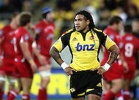 Hurricanes second five Ma'a Nonu during the Super 14 rugby match between Hurricanes and Reds at Westpac Stadium, Wellington, New Zealand on Friday, 7 May 2010. Photo: Dave Lintott / lintottphoto.co.nz