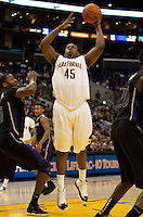 Markuri Sanders-Frison shoots the ball. The Washington Huskies defeated the California Golden Bears 79-75 during the championship game of the Pacific Life Pac-10 Conference Tournament at Staples Center in Los Angeles, California on March 13th, 2010.