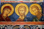 Europe, Russia, Suzdal. Fresco of Saints in the Cathedral of the Nativity.