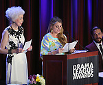 Jano Herbosch, Bonnie Comley and Will Swenson on stage at the 83rd Annual Drama League Awards Ceremony  at Marriott Marquis Times Square on May 19, 2017 in New York City.