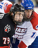 Cody Ferriero (Northeastern - 79), Michael Budd (Lowell - 18) - The visiting Northeastern University Huskies defeated the University of Massachusetts-Lowell River Hawks 3-2 with 14 seconds remaining in overtime on Friday, February 11, 2011, at Tsongas Arena in Lowelll, Massachusetts.