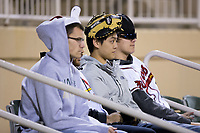 "A group of Kannapolis Intimidators fans wear their ""rally hats"" during the game against the Lakewood BlueClaws at Kannapolis Intimidators Stadium on April 7, 2017 in Kannapolis, North Carolina.  The BlueClaws defeated the Intimidators 6-4.  (Brian Westerholt/Four Seam Images)"