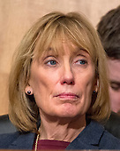 United States Senator Maggie Hassan (Democrat of New Hampshire) at the US Senate Committee on Homeland Security and Governmental Affairs hearing on the nomination of General John F. Kelly, USMC (Retired), to be Secretary, US Department of Homeland Security on Capitol Hill in Washington, DC on Tuesday, January 10, 2017.<br /> Credit: Ron Sachs / CNP