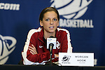 21 March 2014: Oklahoma's Morgan Hook. The University of Oklahoma Sooners held a training session the day before playing in an NCAA Division I Women's Basketball Tournament First Round game at Cameron Indoor Stadium in Durham, North Carolina.
